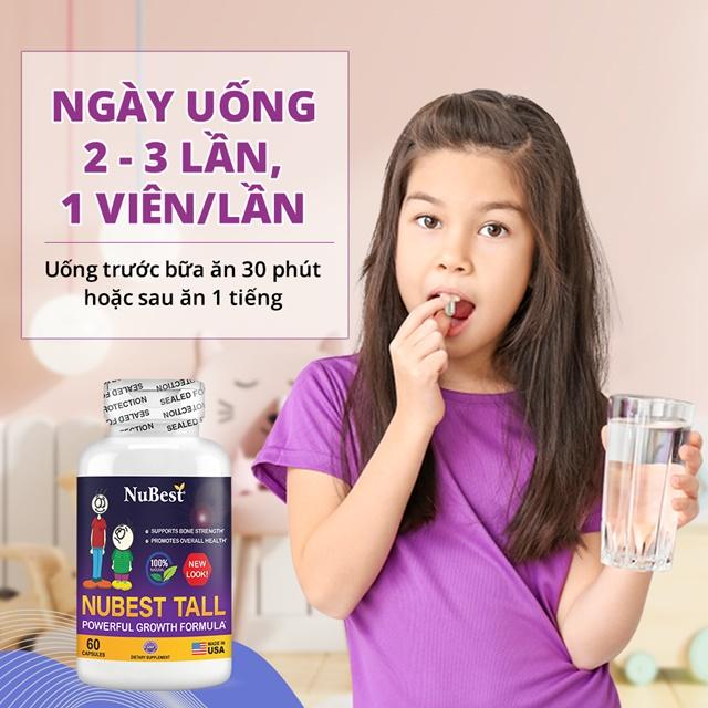 Uống nubets tall đúng liều lượng theo hướng dẫn