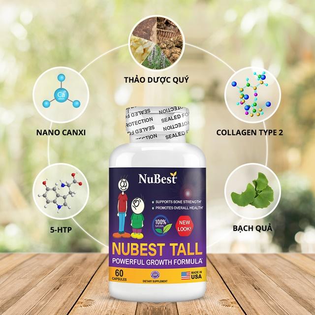 Các thành phần và hàm lượng được ghi rõ ở mặt sau lọ NuBest Tall đúng với quy định của FDA Hoa Kỳ
