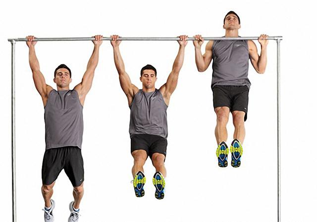 Bài tập xà đơn giúp nam giới tăng cường cơ bắp