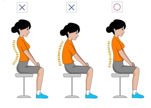 Ngồi thẳng lưng để duy trì cột sống khỏe mạnh