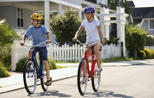 Đạp xe giúp tăng cường sự phát triển ở xương chân