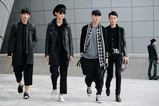 Trang phục màu đen giúp phái mạnh cao lớn và mạnh mẽ hơn